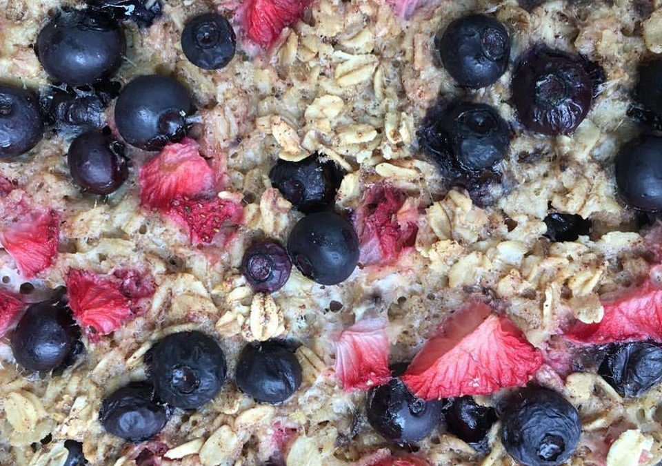 Picture of berries and oatmeal bars