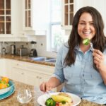 Woman feels successful while doing a liver detox